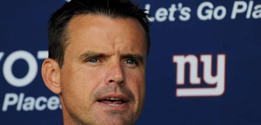 Giants coach Sean Ryan speaks to the media