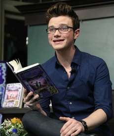 Chris Colfer signs copies of his new book