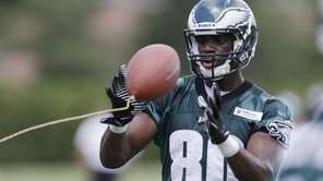 Philadelphia Eagles' Ifeanyi Momah catches a tethered ball