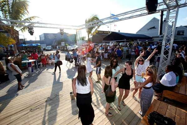 Patrons dance at Bracco?s on the Nautical Mile