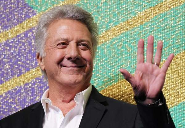 Dustin Hoffman attends the premiere of his movie