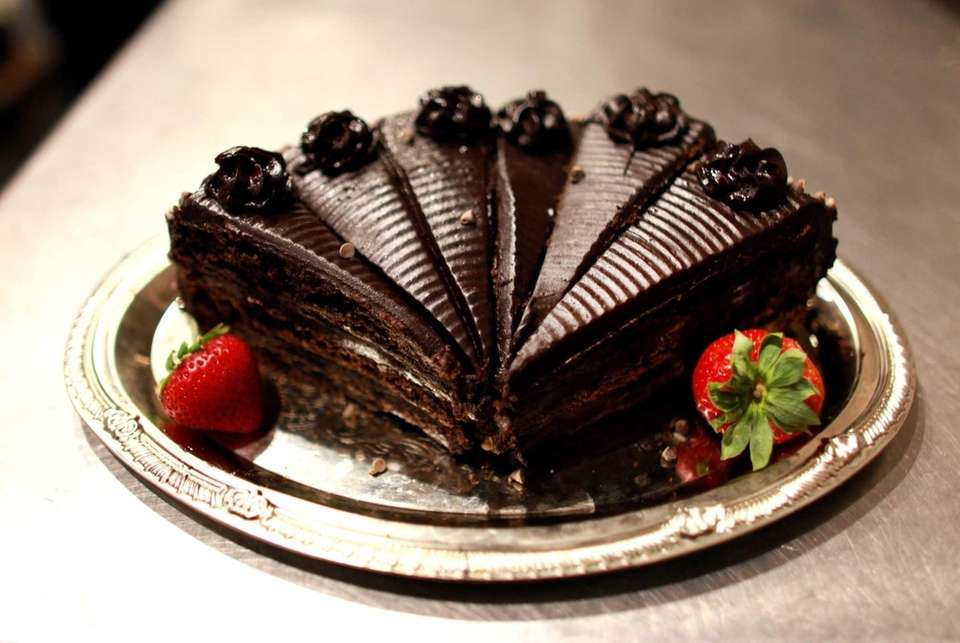 The chocolate cake is the top dessert choice