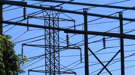 A maze of power lines emanates from LIPA's