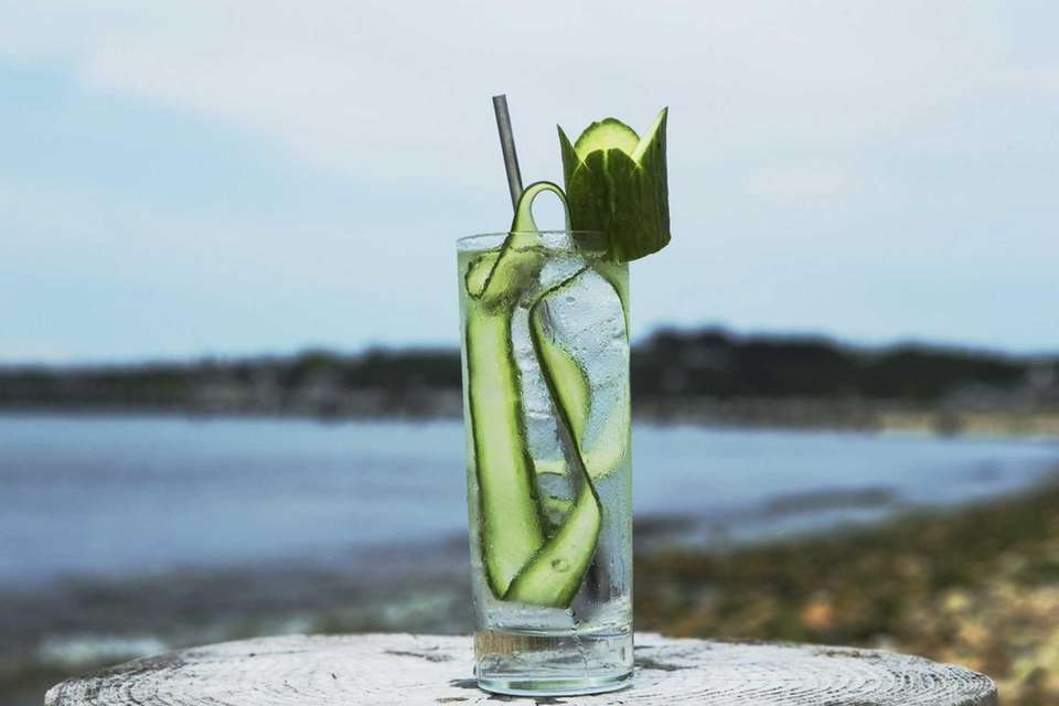 Navy Beach in Montauk serves a cucumber gin