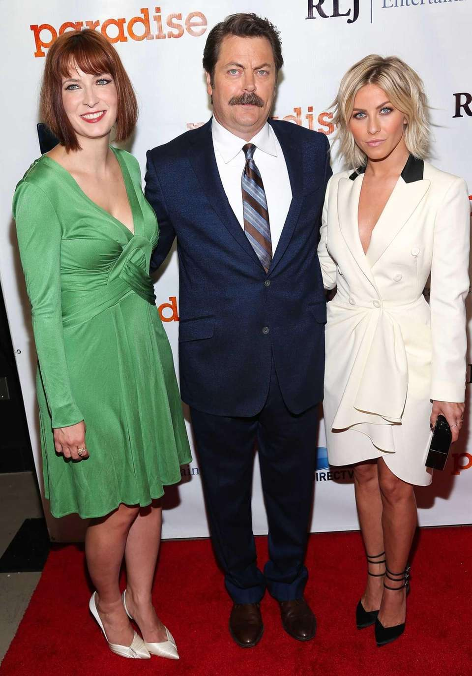 From left, director Diablo Cody, Nick Offerman and