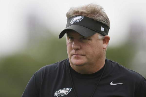 Philadelphia Eagles head coach Chip Kelly walks on