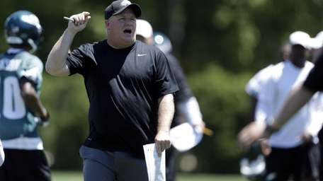 Philadelphia Eagles head coach Chip Kelly directs his
