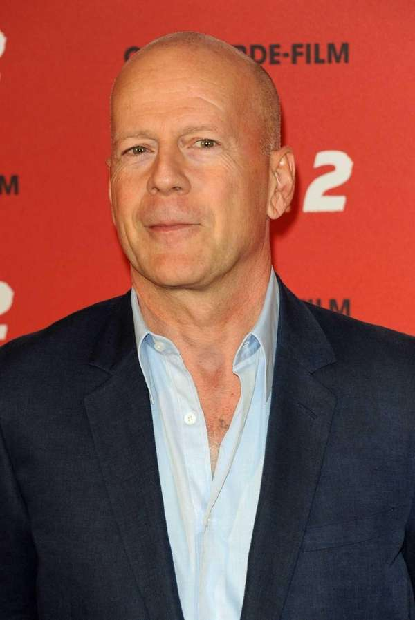 Actor Bruce Willis promotes