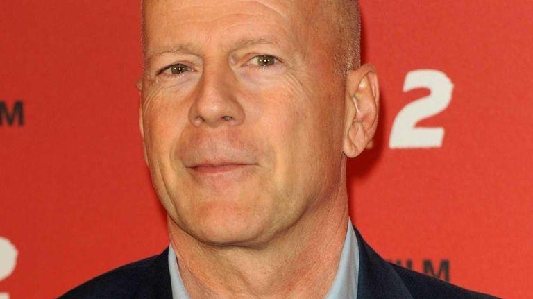 Actor Bruce Willis promotes