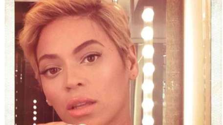 Beyonce's new haircut. (Instagram)