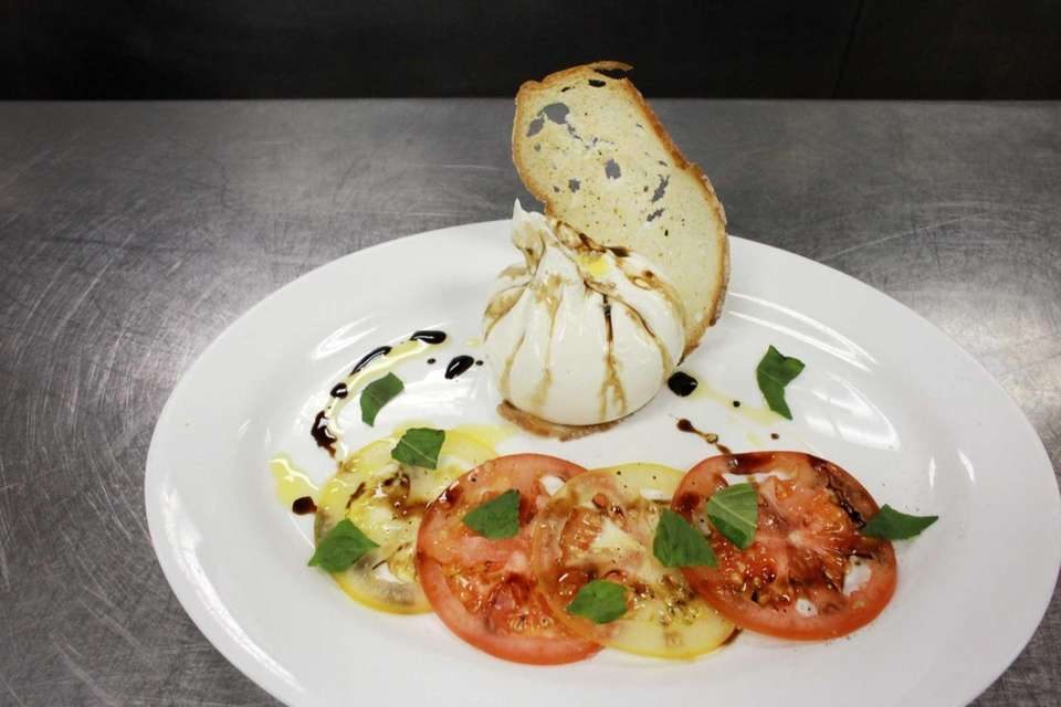The house-made burrata at Ocean, located in The