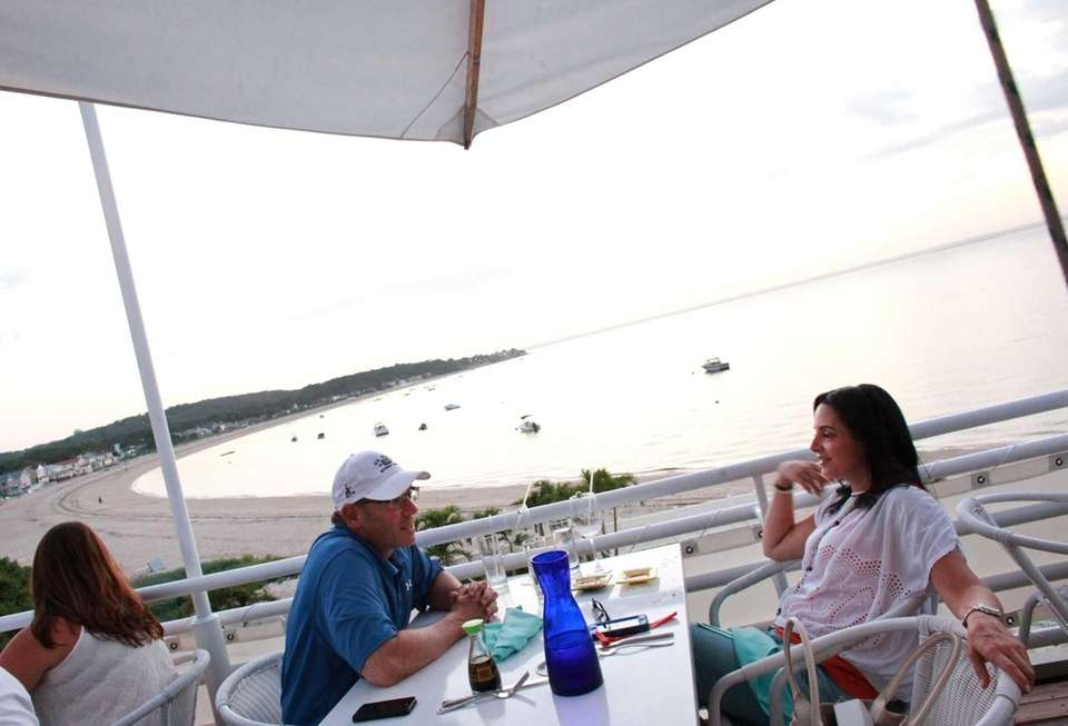 Diners enjoy the terrific view at Ocean