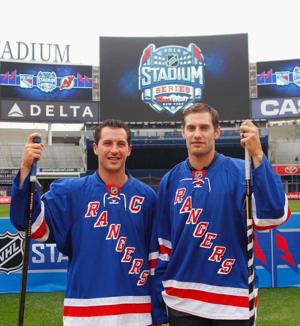 Rangers players Ryan Callahan, left, and Dan Girardi