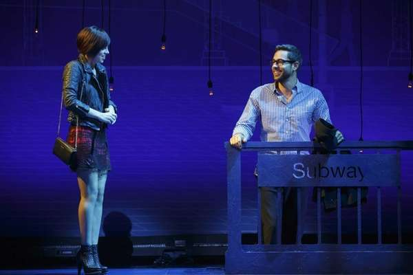 "Krysta Rodriguez and Zachary Levi in ""First Date"""