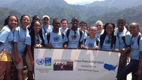 Elmont Memorial High School's Model UN team traveled