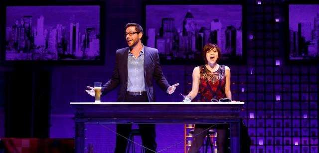 "Zachary Levi and Krysta Rodriguez in ""First Date"""