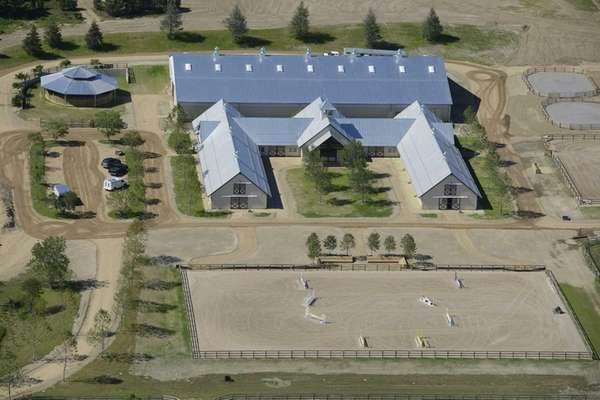 Matt Lauer's horse barn is under construction in