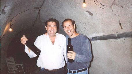 Ambrosio Molinos de las Heras, left, and author