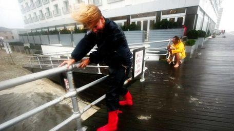 Hurricane Irene hits Long Beach, Aug. 28, 2011.