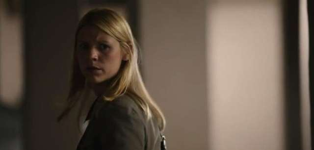 "Claire Danes in a scene from ""Homeland."""