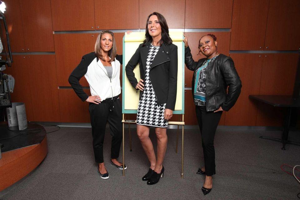 Three Long Island teachers, from left, Michelle Crennan,