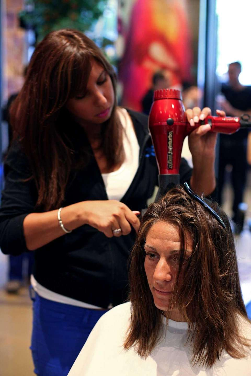 Michelle Crennan gets a cut. (Aug. 3, 2013)