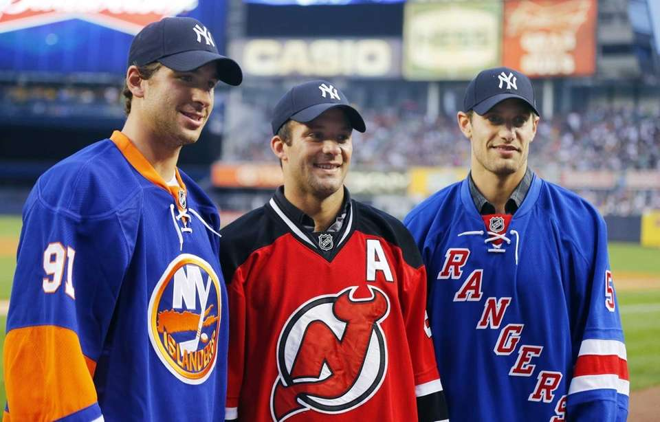 Dan Girardi of the Rangers, John Tavares of