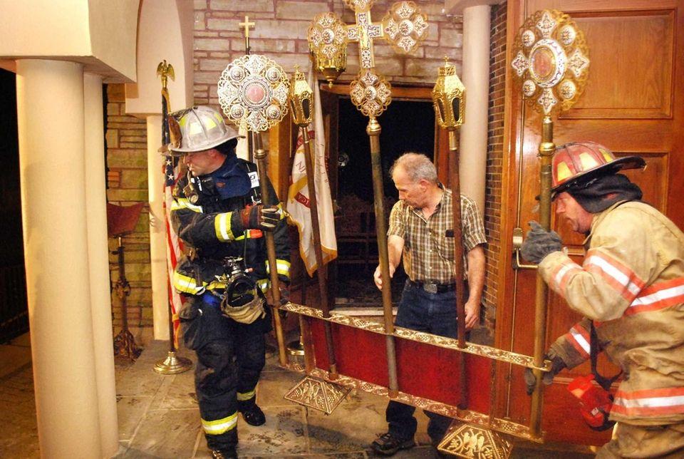 A fire Friday night at St. Demetrios Greek
