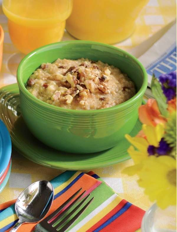 The overnight fruited oatmeal can be found in
