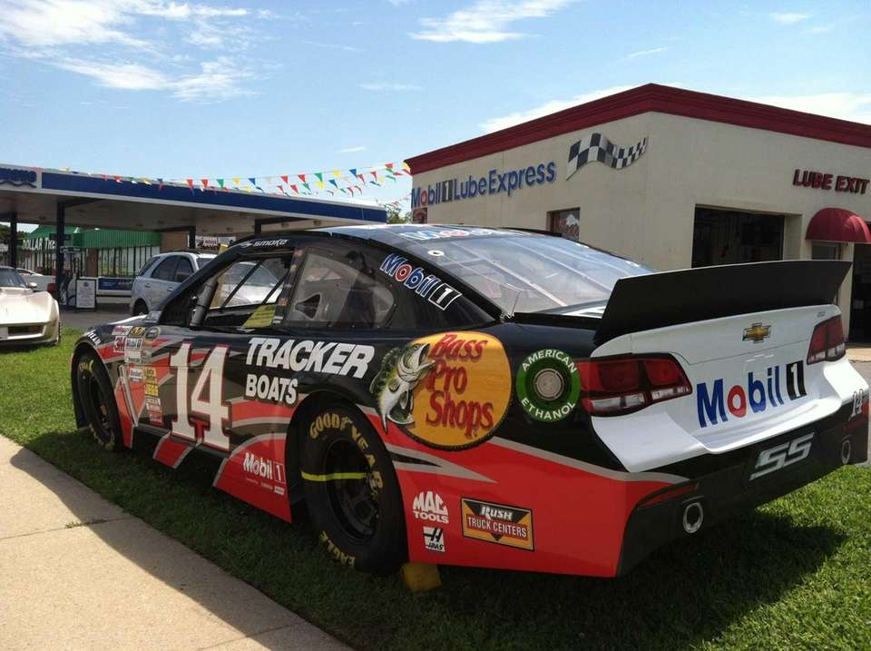 NASCAR star Tony Stewart's retired Chevy SS car