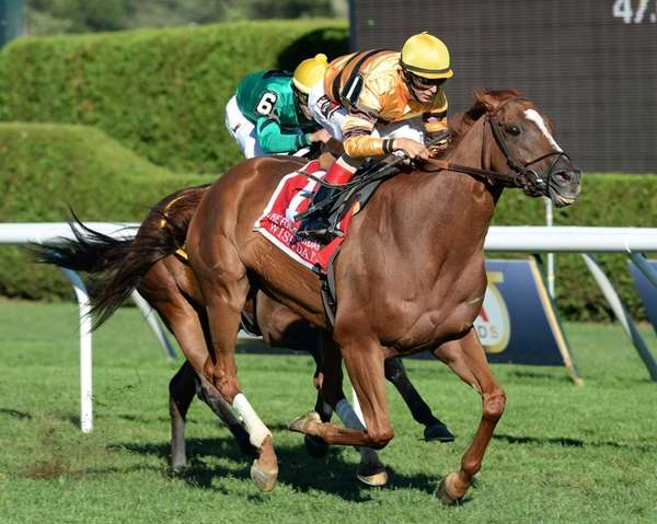 Wise Dan, with jockey John Velazquez, captures the