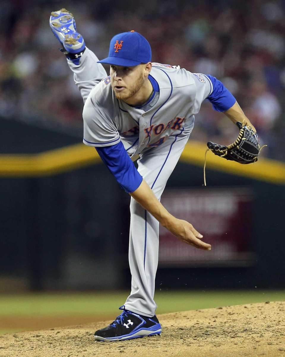 Mets pitcher Zack Wheeler delivers against the Arizona