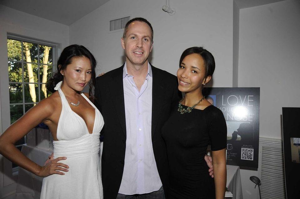 From left, Susan Kim, Dr. Robert Morin and