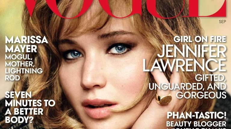 Jennifer Lawrence on the cover of the September