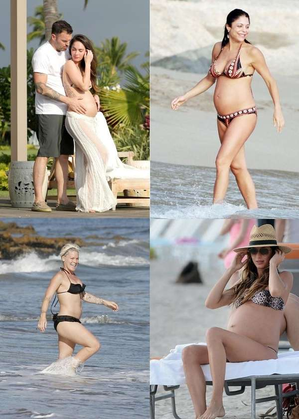 CelebrityBabyScoop.com found 15 pregnant celebs who showed off