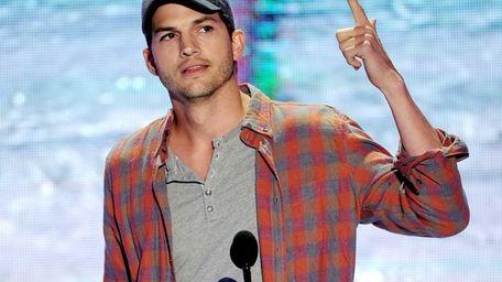 Ashton Kutcher speaks on Aug. 11, 2013, during