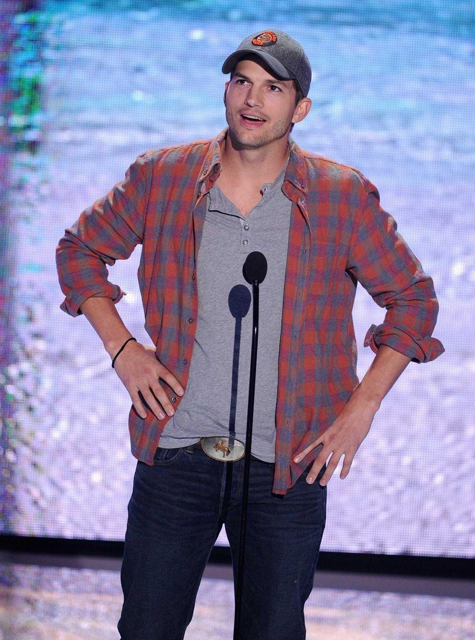 Stage name: Ashton Kutcher Birth name: Christopher Ashton