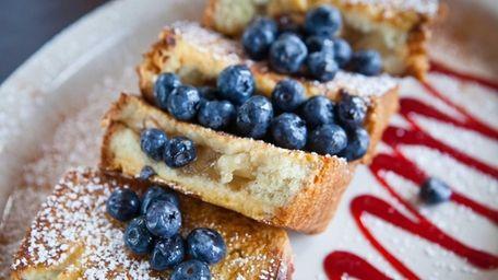 Apple-stuffed french toast is an appealing breakfast dish