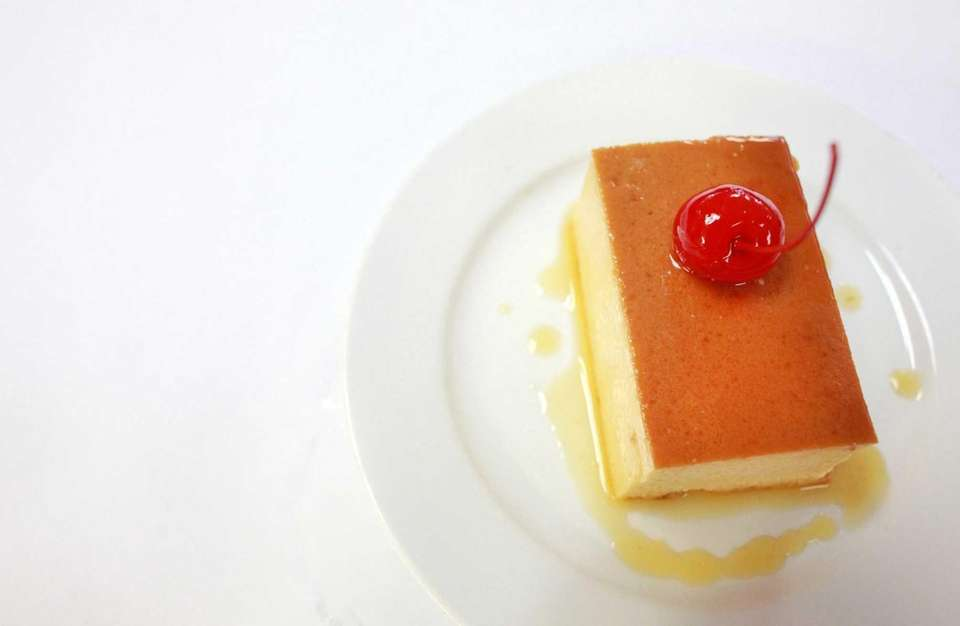 The flan is described as opulent at Sabroso