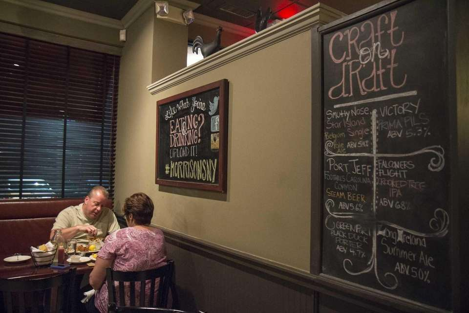 Blackboards decorate the walls at Morrison's restaurant in