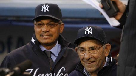Reggie Jackson and Yogi Berra (Getty)