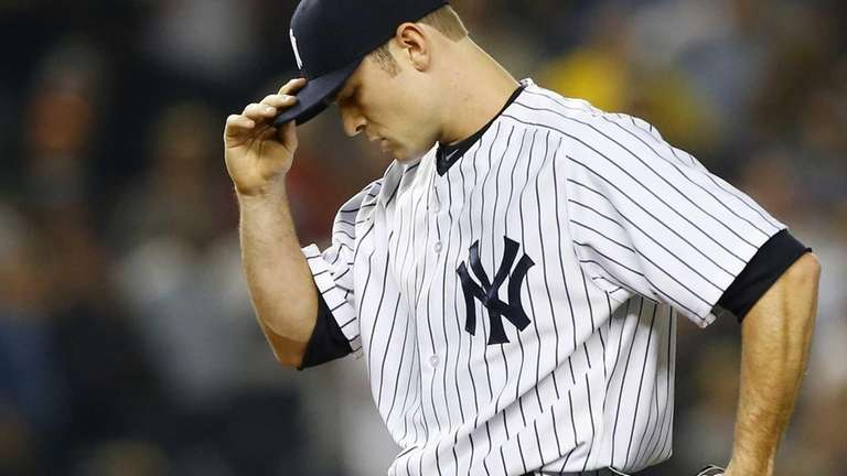 Yankees pitcher David Robertson looks on during the