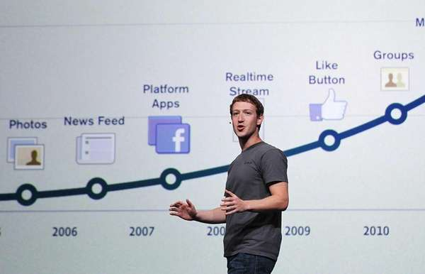 Facebook CEO Mark Zuckerberg delivers a keynote address