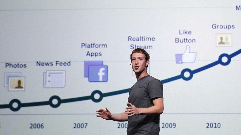 Facebook CEO Mark Zuckerberg delivers a keynote address