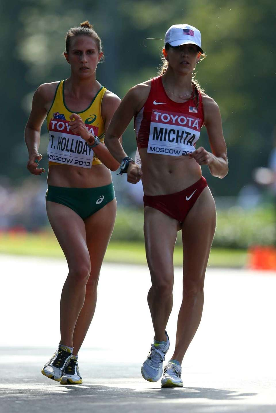 Tanya Holliday of Australia and Maria Michta of
