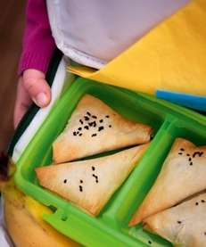 The Veggie Samosas recipe can be found in