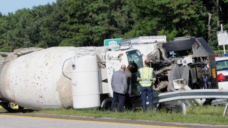 Police said a fatal crash involving a truck