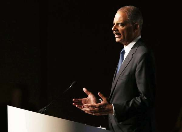 Attorney General Eric Holder speaks during the 2013