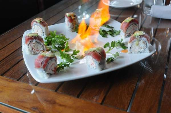 Volcano roll at Blackstone Steakhouse, Melville: Blackstone, where