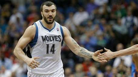 Minnesota Timberwolves center Nikola Pekovic is shown in